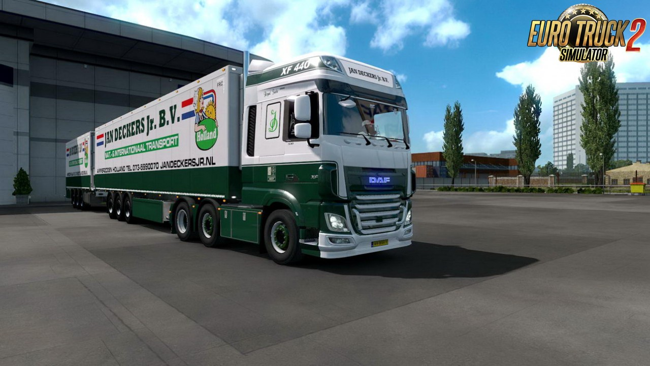 JAN DECKERS JR BV Skin for DAF Euro 6 + Trailer v1.0 (1.35.x)