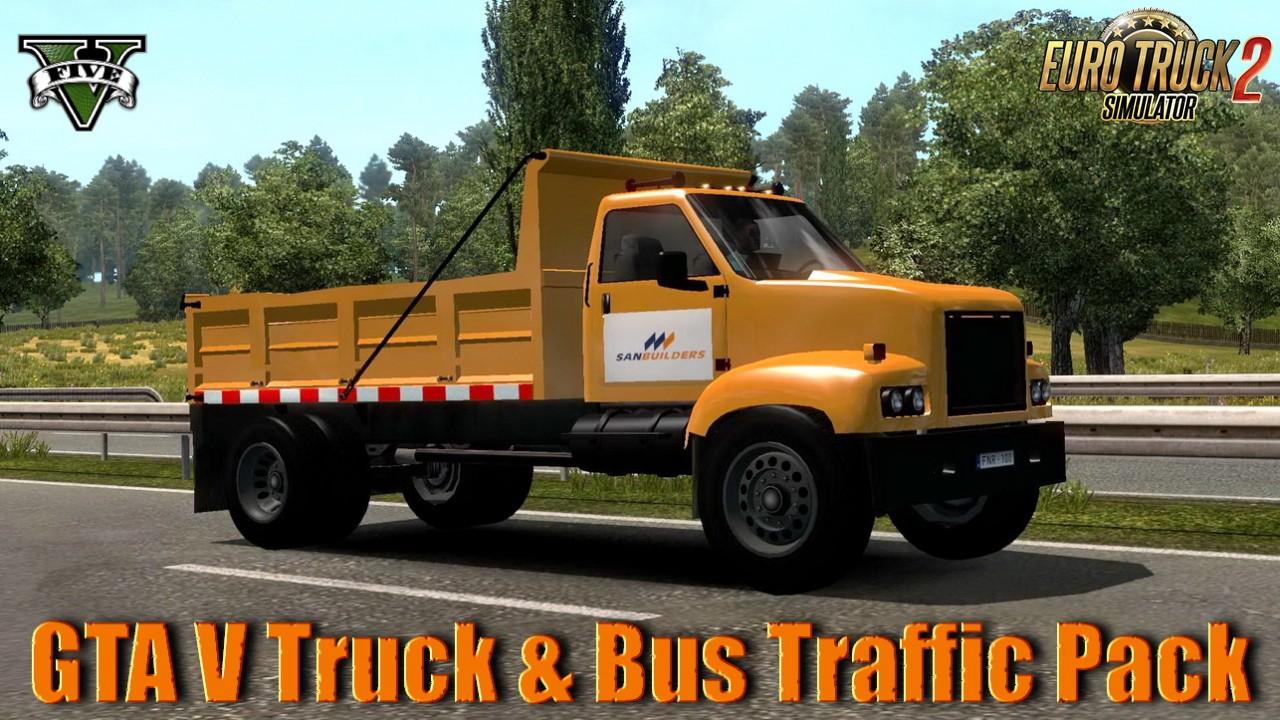 GTA V Truck & Bus Traffic Pack v1.0 (1.35.x)