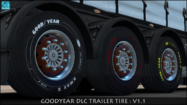 Goodyear DLC Trailer Tires v1.1 (1.35.x)