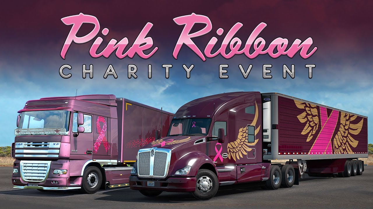 Pink Ribbon Charity Event Skins for ETS2 and ATS