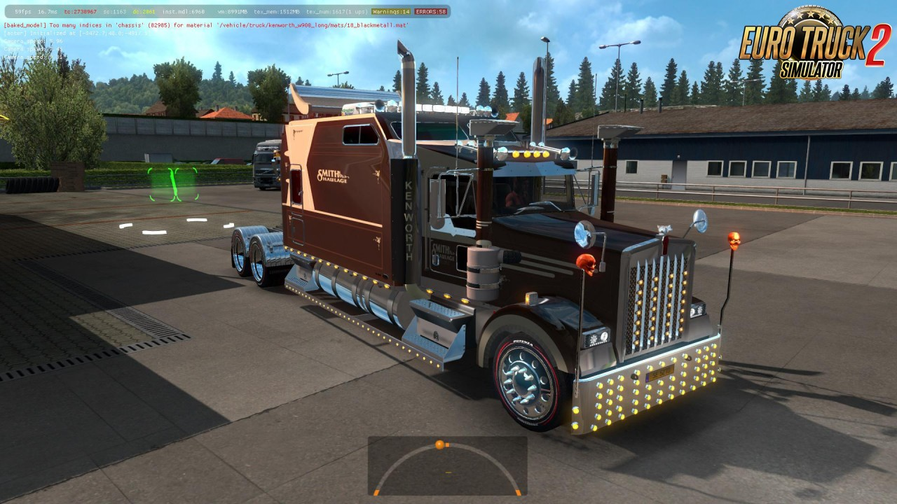 Kenworth W900 Long Version 8-2 E for Ets2 (1.35.x and 1.36.x)