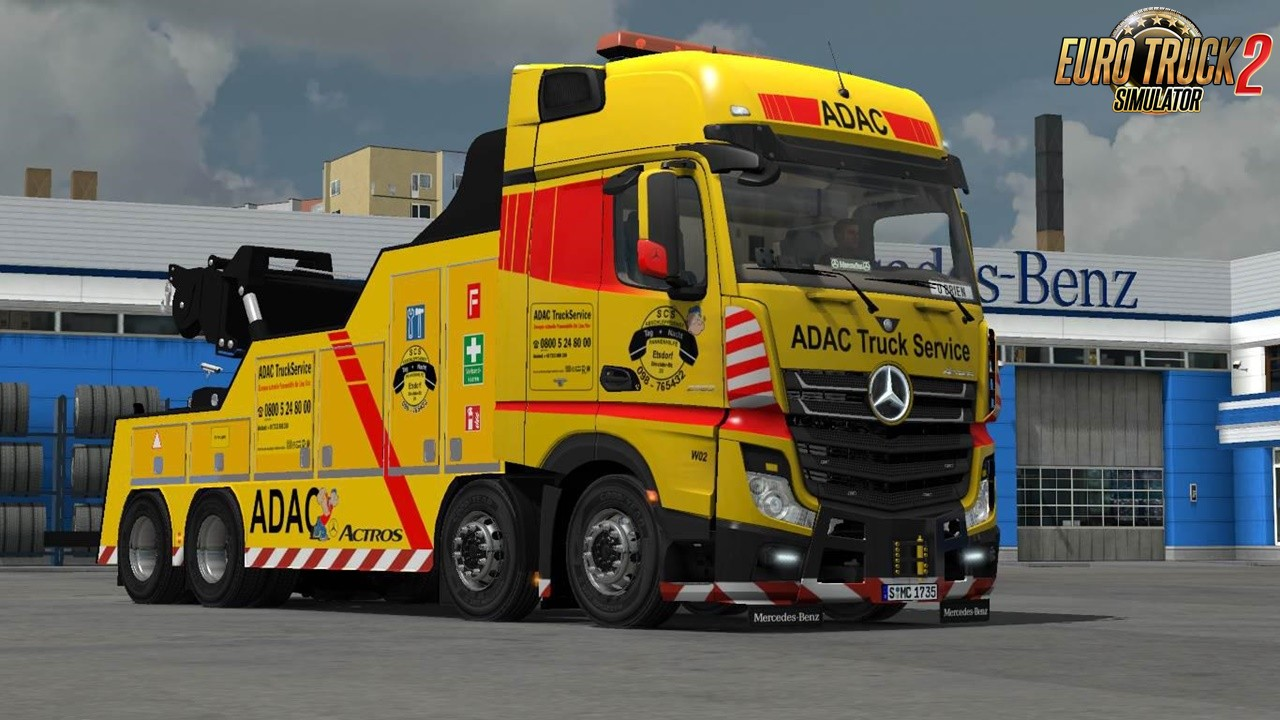 MB Actros MP4 Cranetruck for Ets2